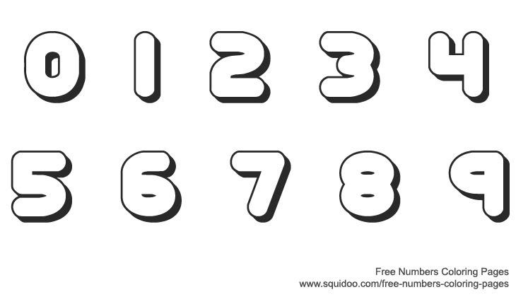 Number Names Worksheets printable numbers 1 to 10 : 9 Best Images of Printable Bubble Numbers 10 - Free Printable ...