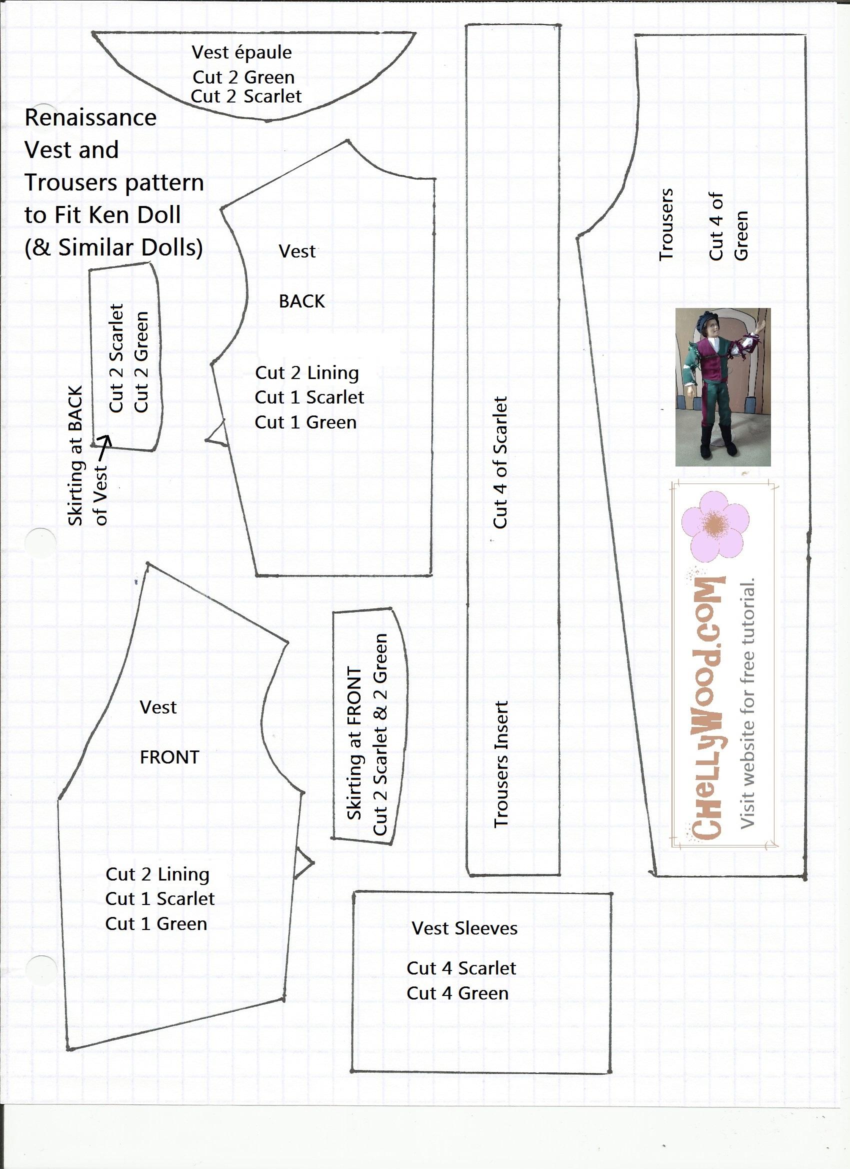 9 Images of Ken Doll Patterns Printable
