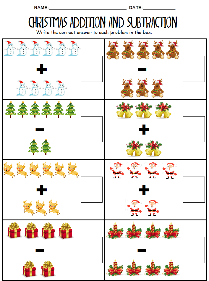 math worksheet : christmas math printables kindergarten  educational math activities : Christmas Math Worksheets Kindergarten