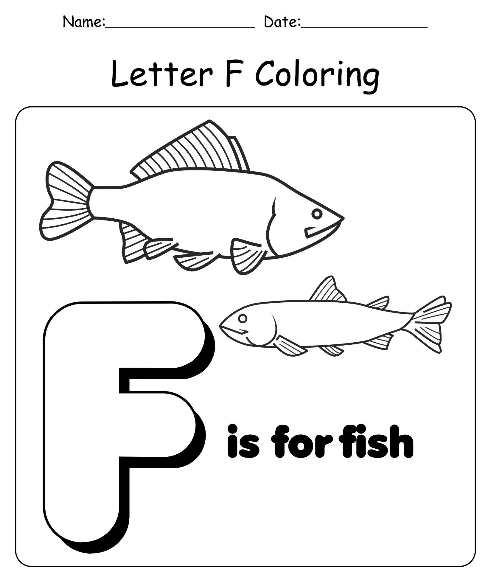 Letter F Printable Worksheets