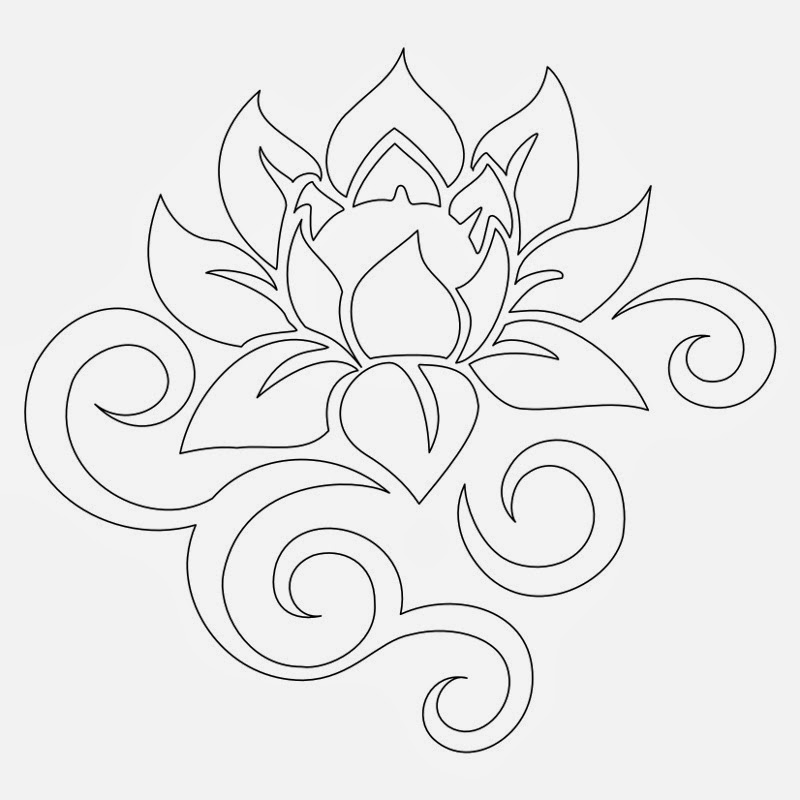 9 Images of Lotus Flower Stencils Free Printable