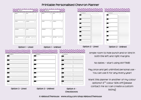 4 Images of Make Your Own Planner Printables