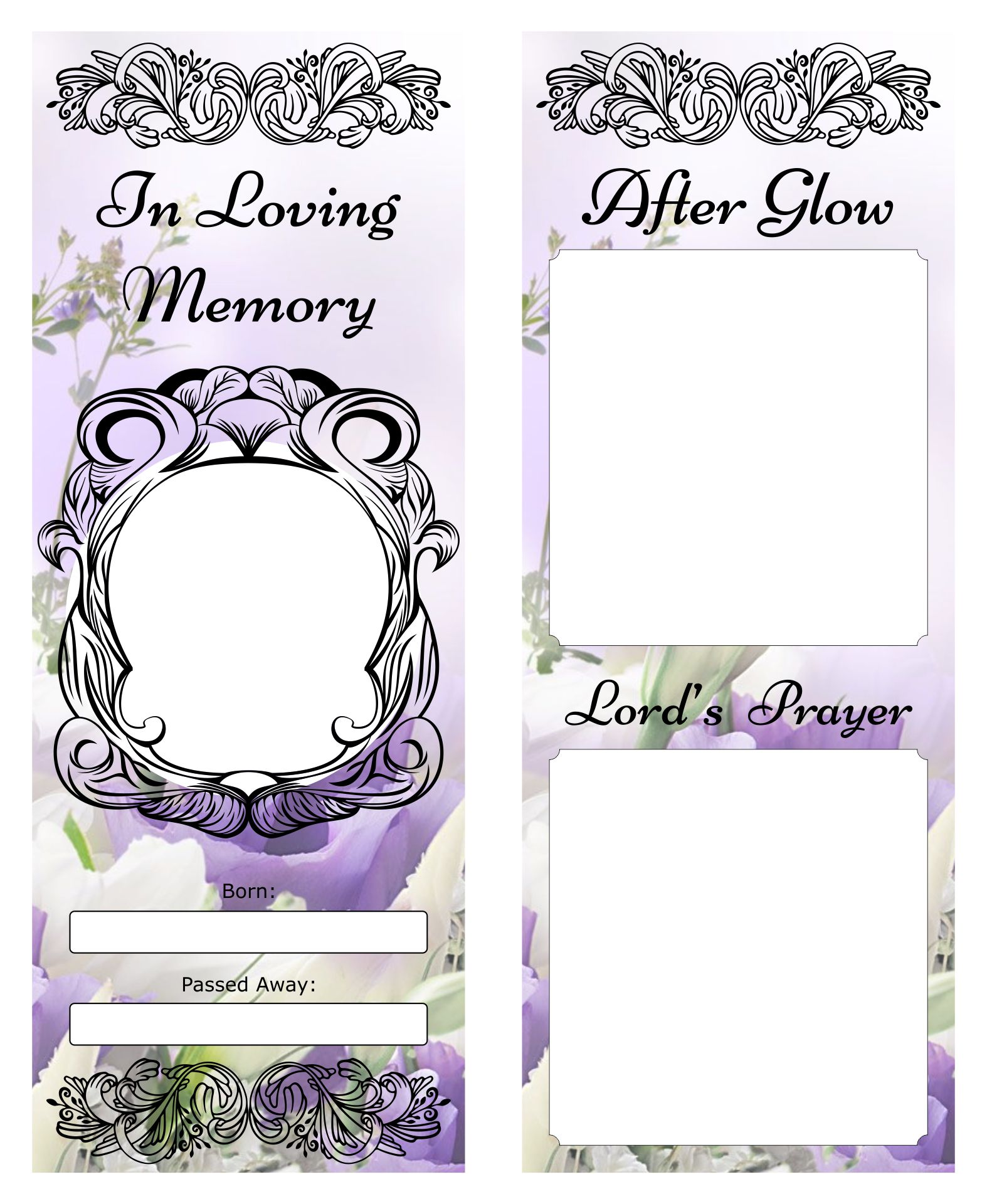 Memorial Bookmarks Templates