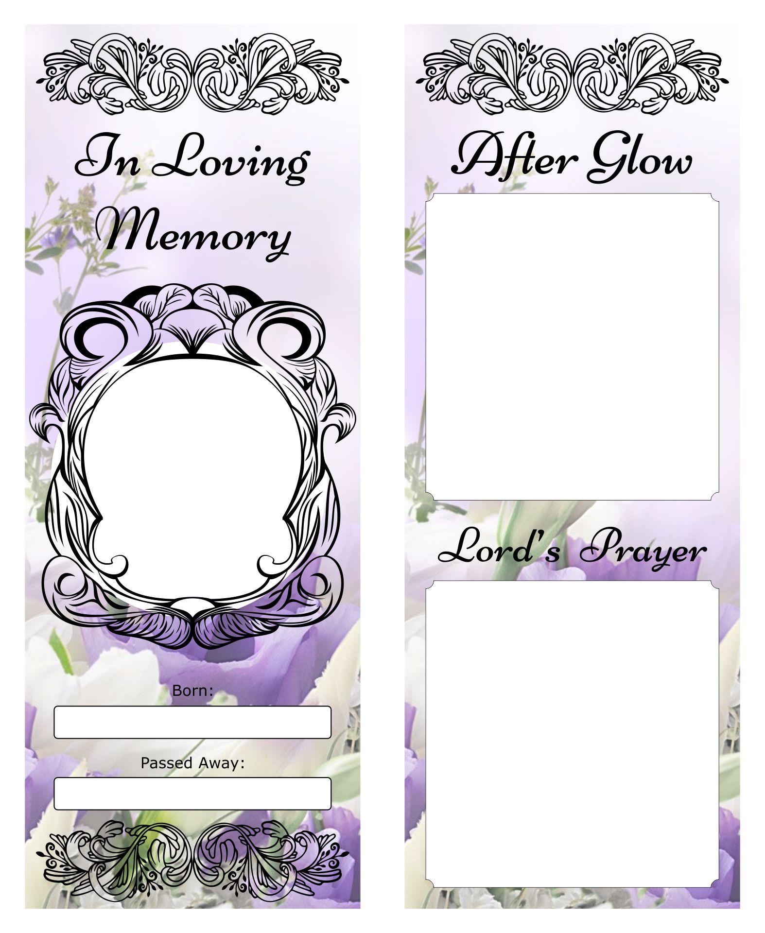 Memorial Bookmarks Templates