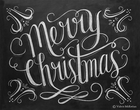 4 Images of Simple Merry Christmas Chalkboard Printables