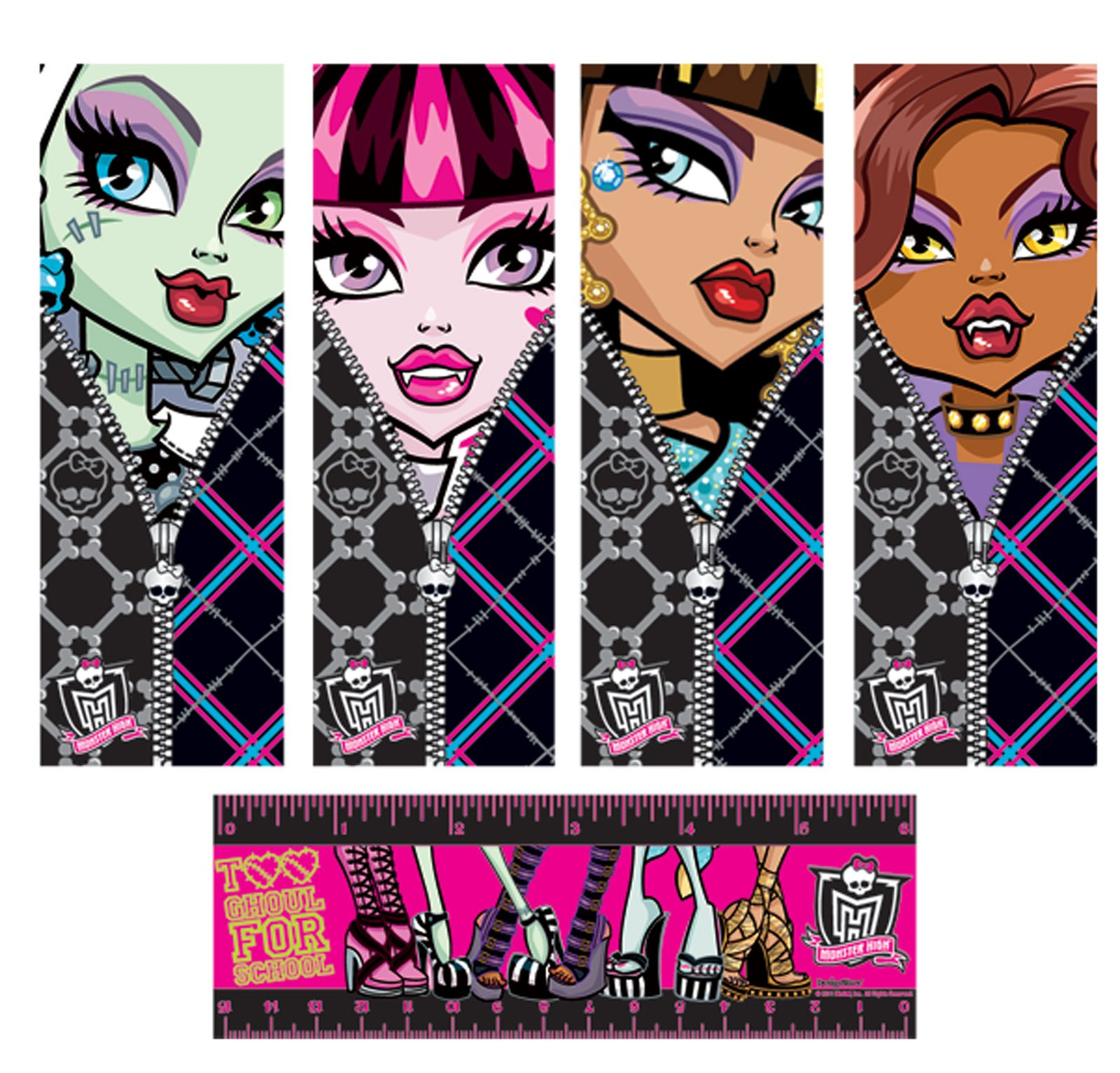 5 Images of Monster High Printable Bookmarks