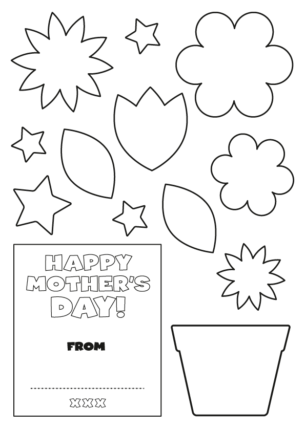 4 Images of Mother's Day Card Templates Printable