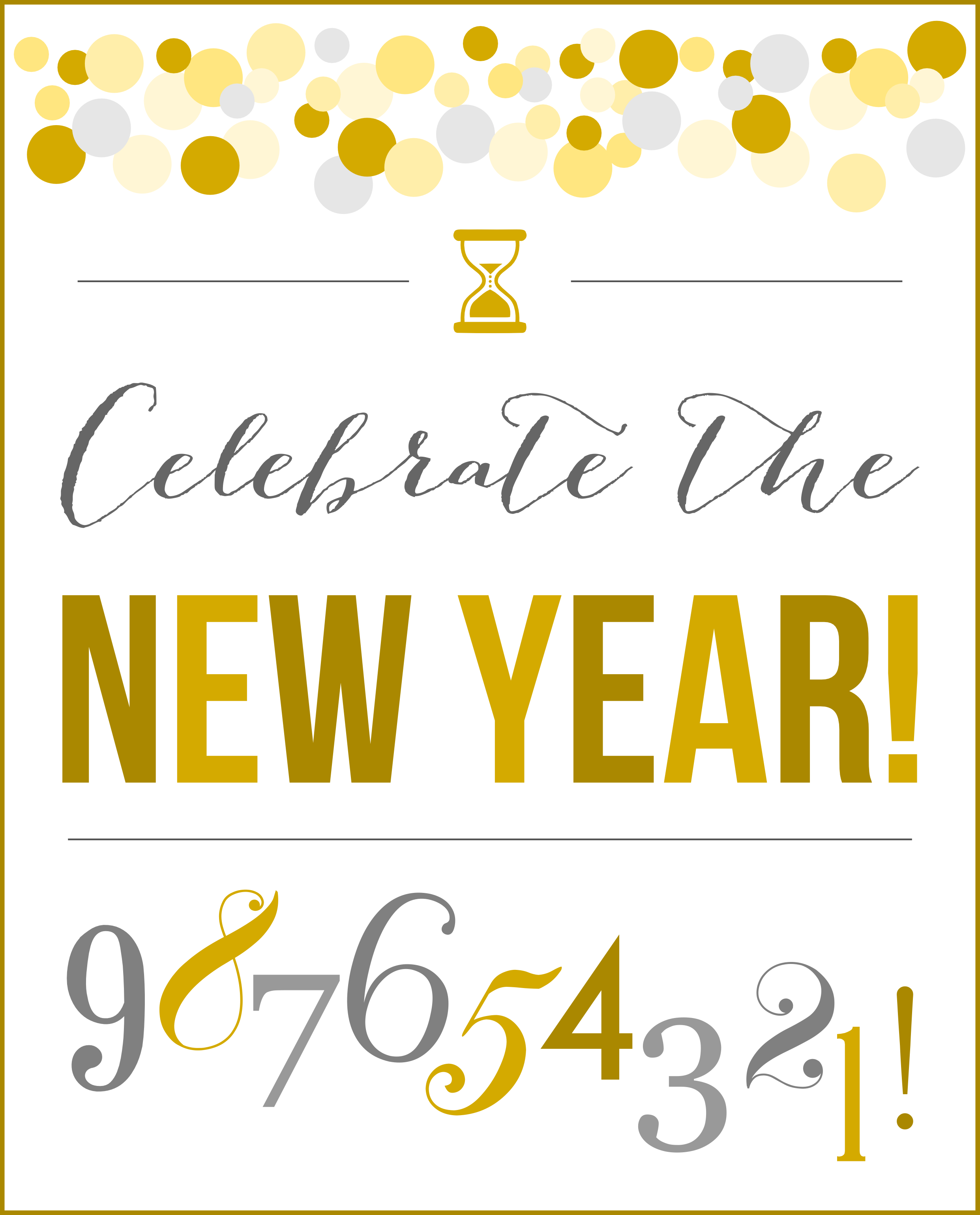 6 Images of New Year's Printables Free