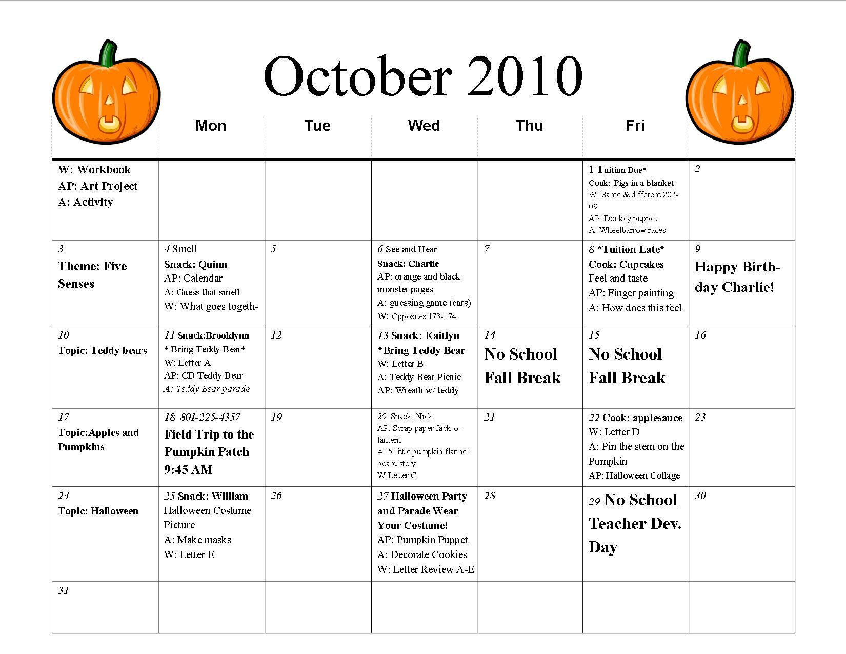 preschool classroom schedule template - 8 best images of free printable preschool calendar