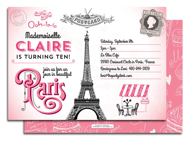 of Paris Themed Birthday Party Free Printables - Paris Themed Free ...