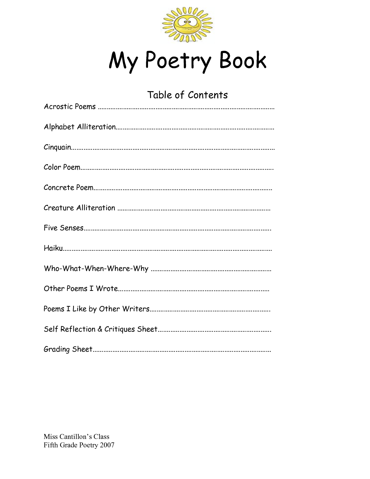 7 best images of poetry templates printable blank for Poetry booklet template