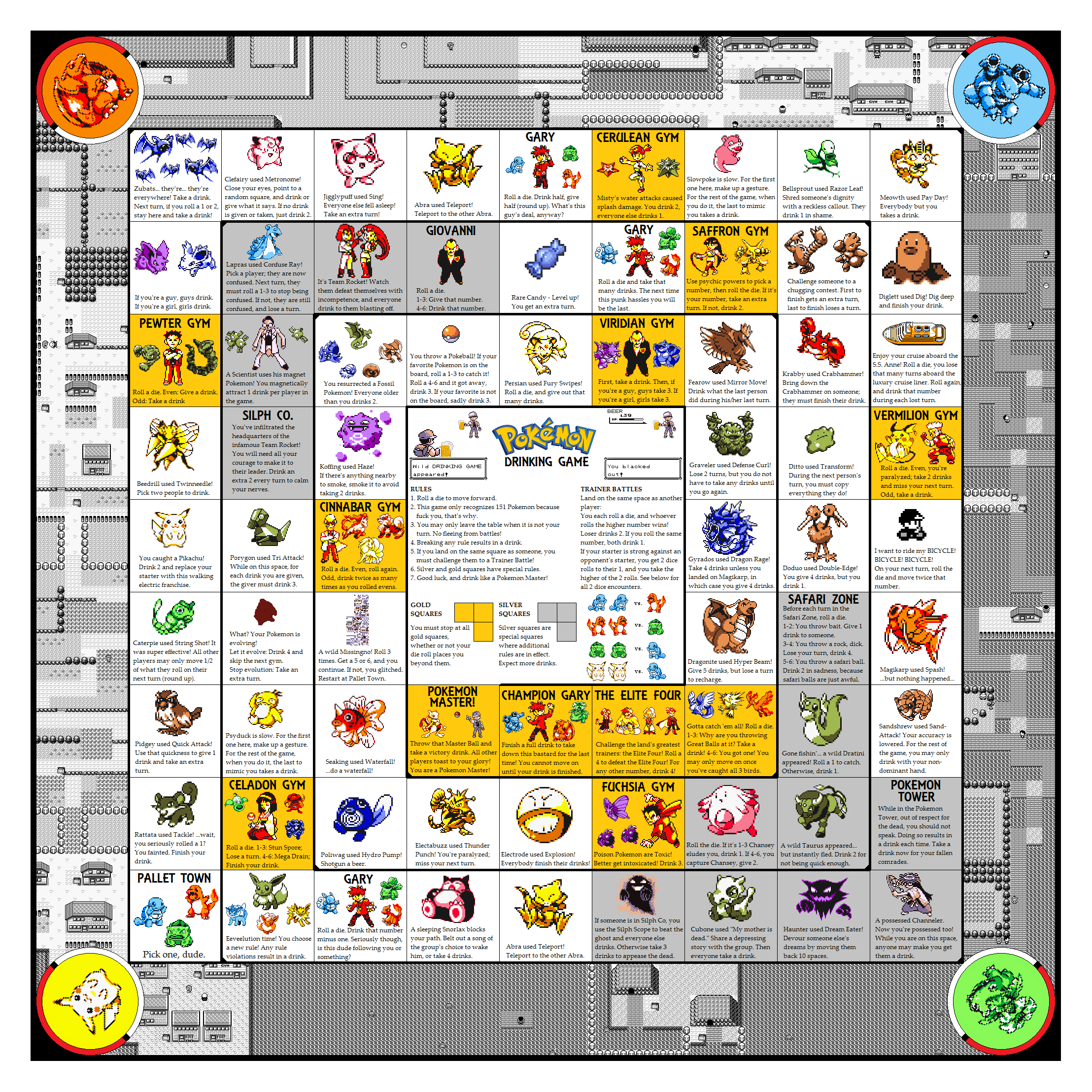 4 Images of Printable Pokemon Games