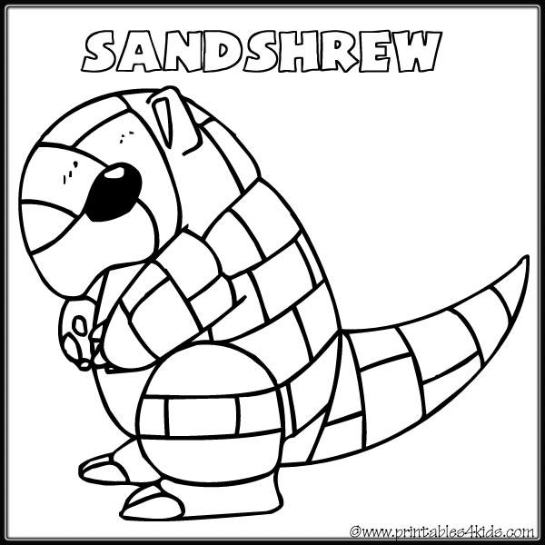 pokemon sandshrew coloring pages - photo#16