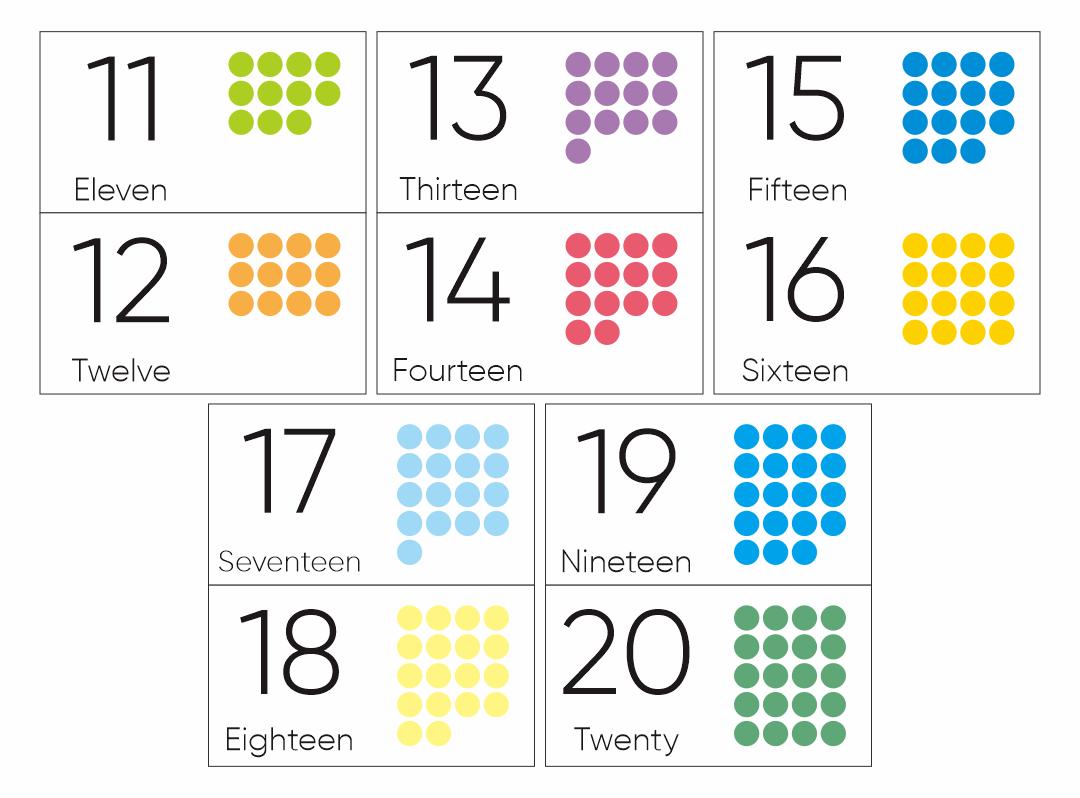 Preschool Numbers 11 20 Printables