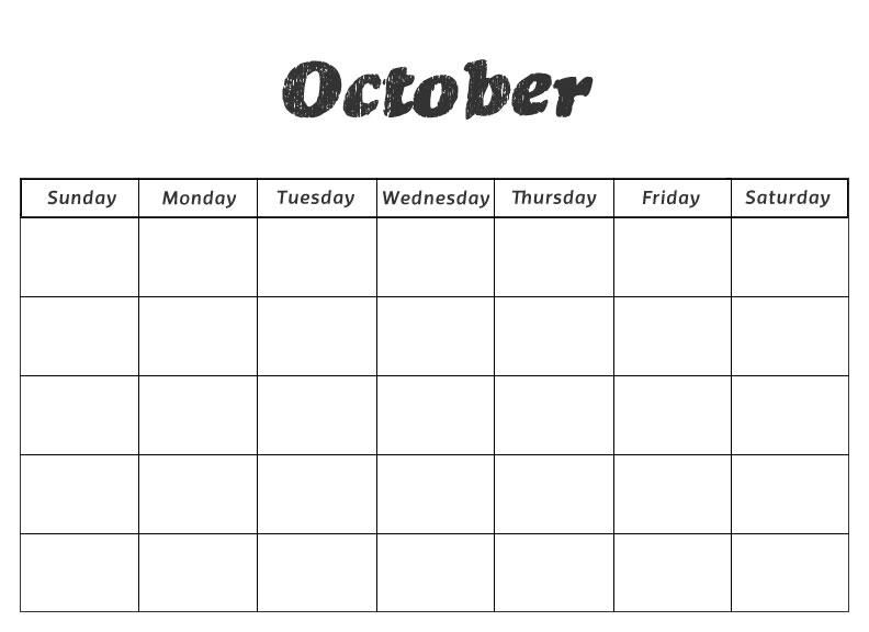 October Calendar Kindergarten : Best images of free printable preschool calendar