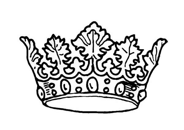 8 best images of crown printable princess coloring pages for Tiara coloring page