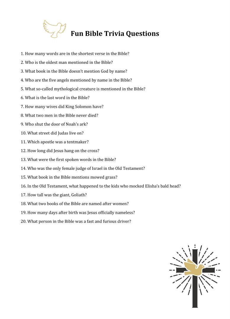 Bible quiz teen variant