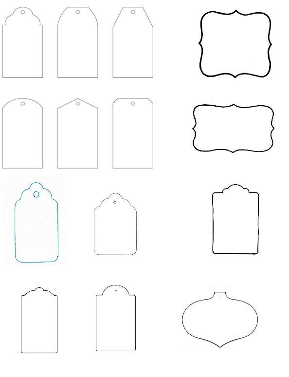 Printable Blank Gift Tags Template