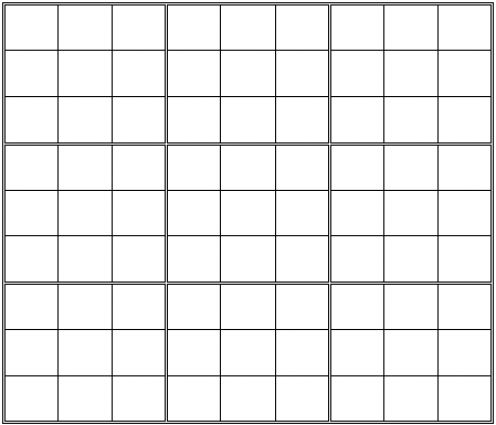 4 Images of Printable Blank Sudoku Puzzles