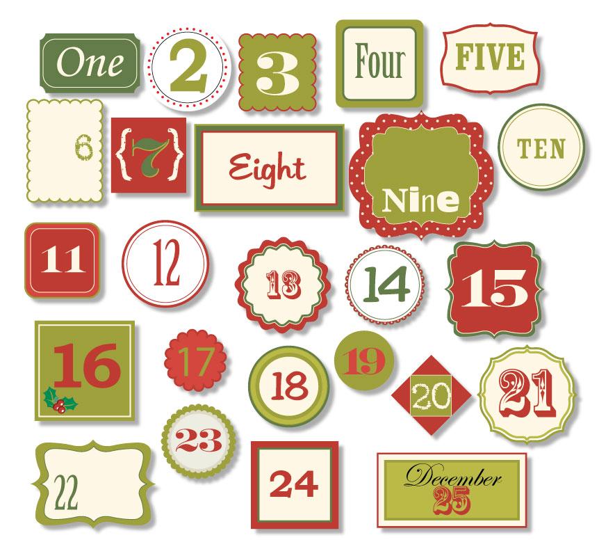 See Free Printable Christmas Calendar Numbers, Free Printable ...
