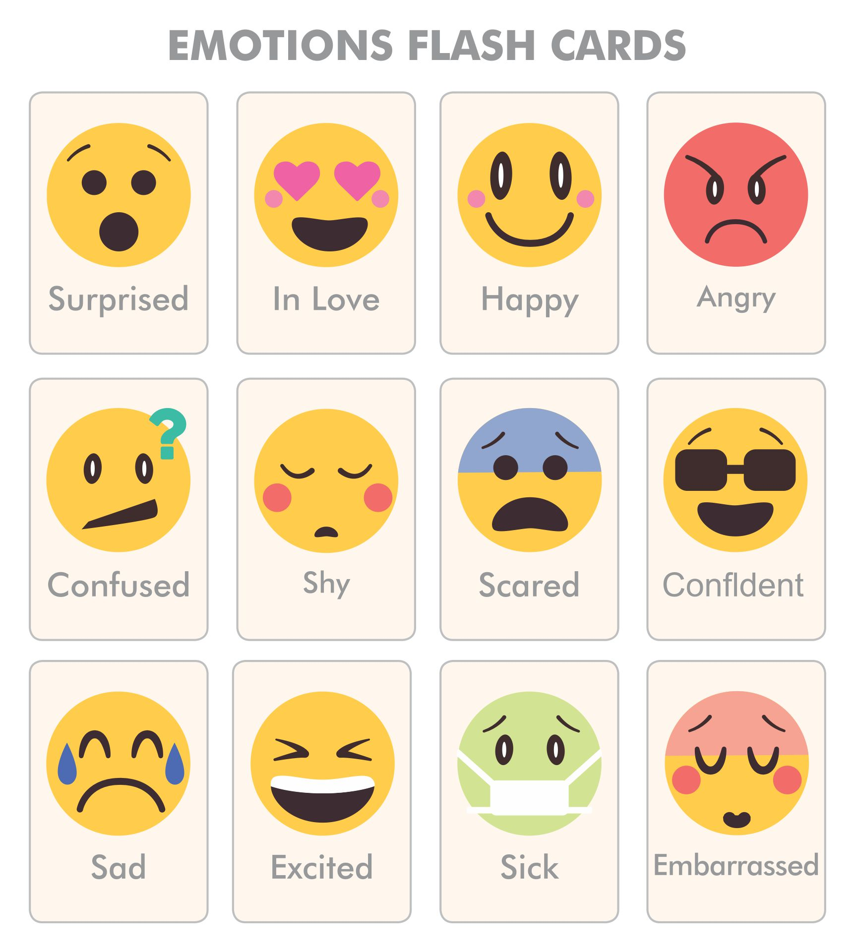 Printable Emotions Cards