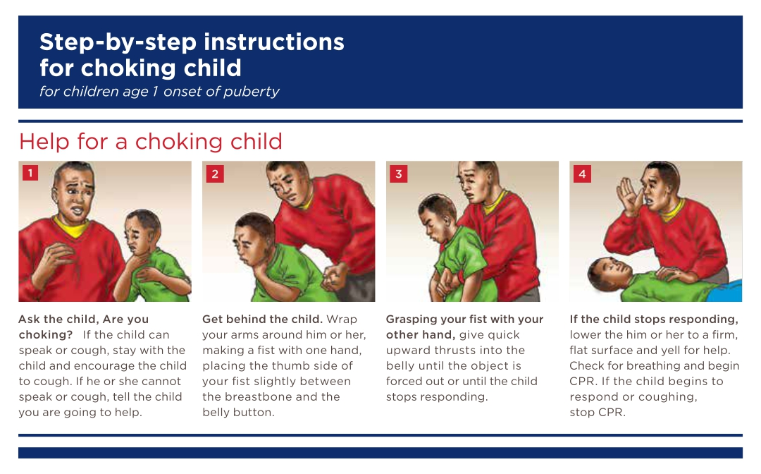 Printable First Aid Choking Child