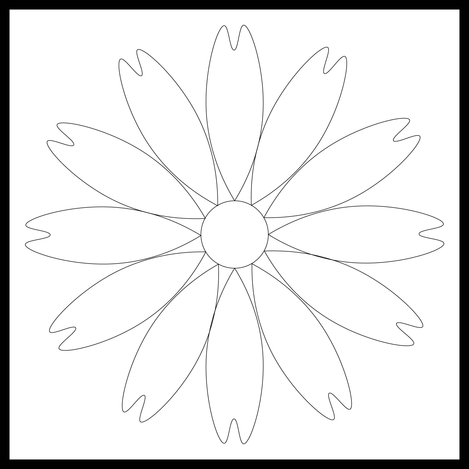 5 Images of 6 Petals Flowers Templates Printables