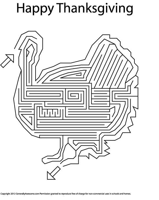 8 Best Images of Printable Thanksgiving Mazes - Thanksgiving Mazes ...