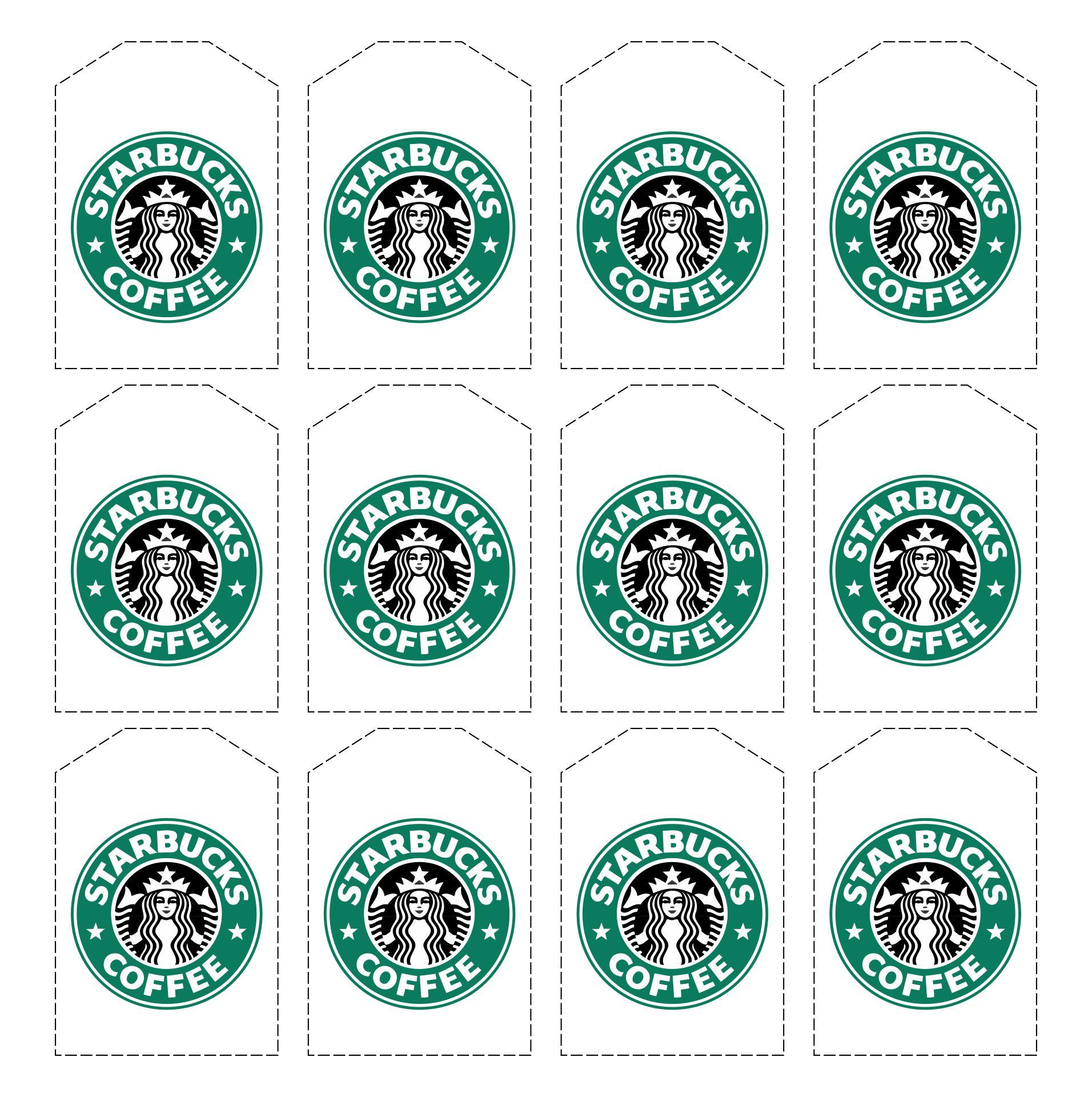 Printable Mini Starbucks Labels