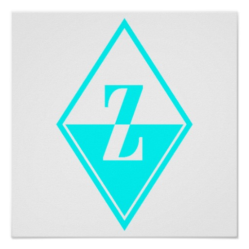 Printable Monogram Letters Z