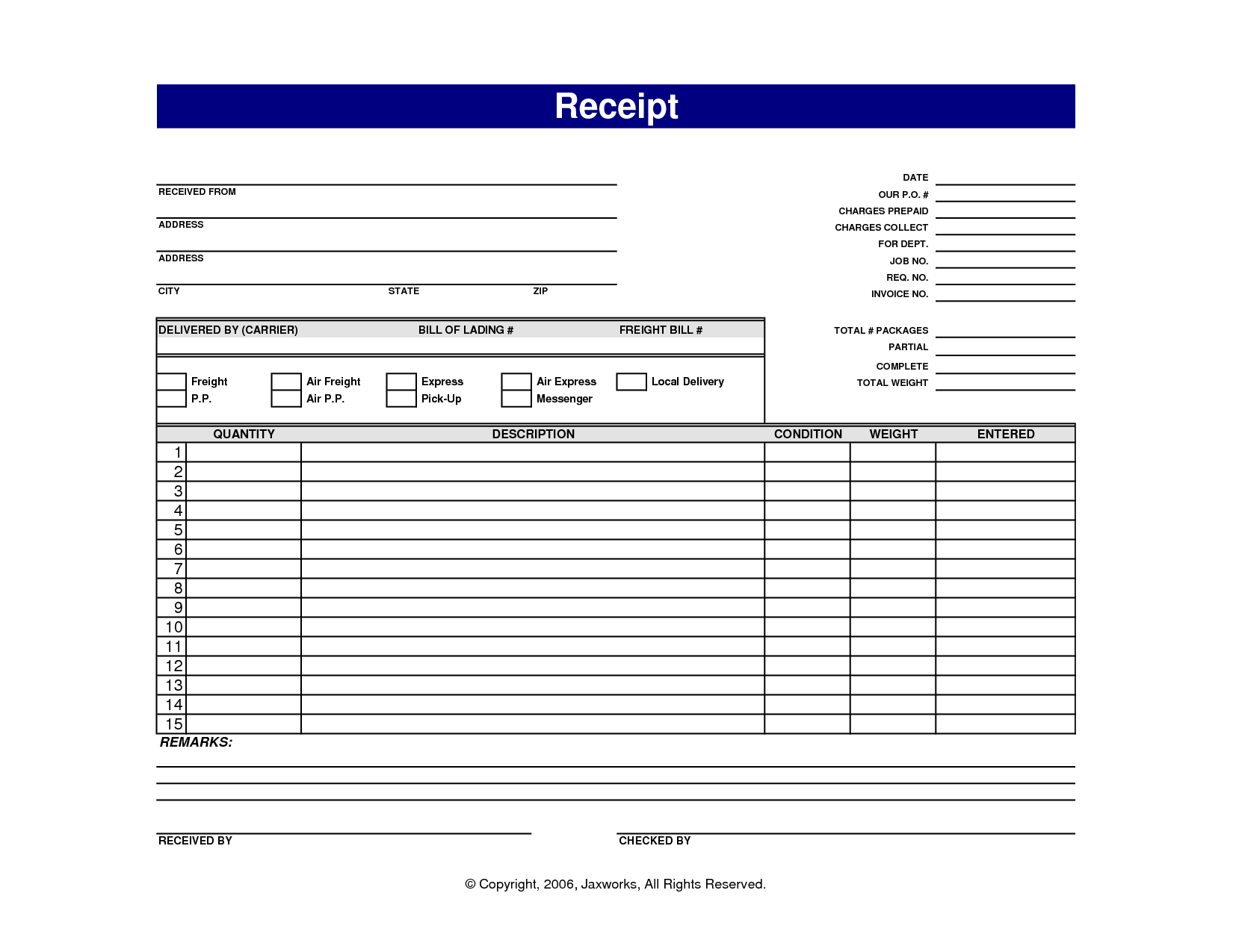 ... , Receipt Templates Free Printable Receipt Forms, Blank Receipt