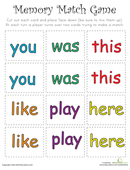 9 Best Images of Sight Words Printable Matching Game - Sight Word ...