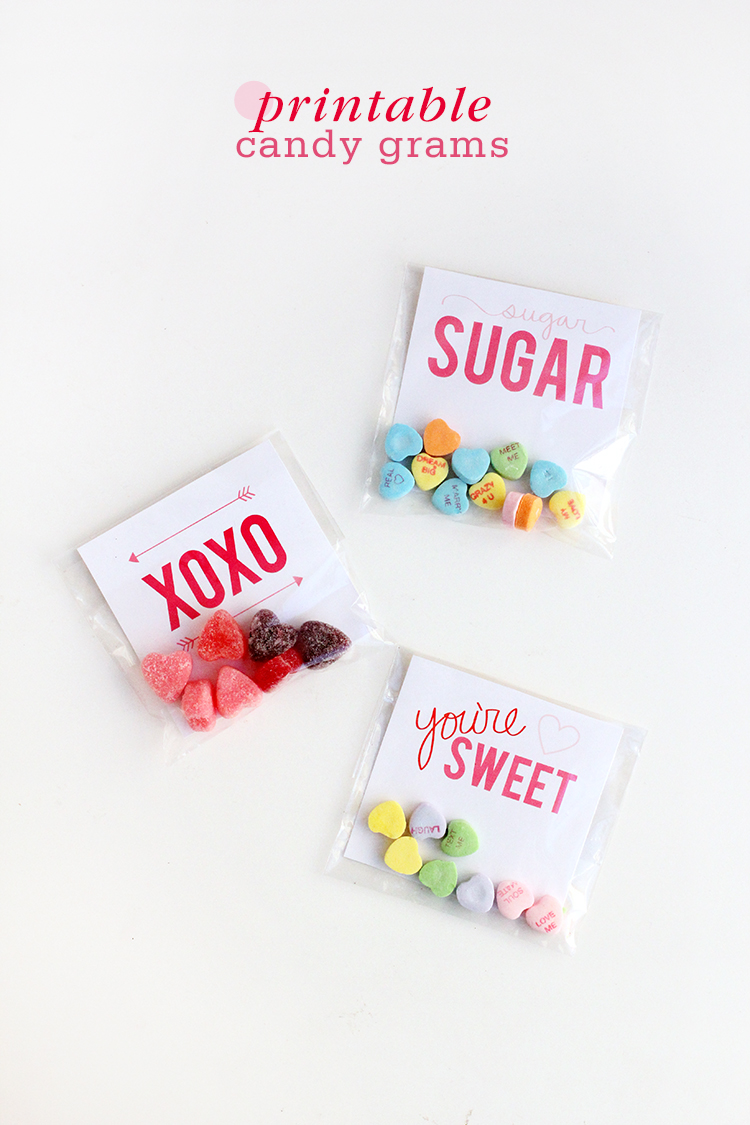 8 Images of Printable Valentine's Candy Grams