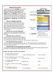 Worksheet Nutrition Label Worksheet 5 best images of printable food label worksheet nutrition reading labels worksheet