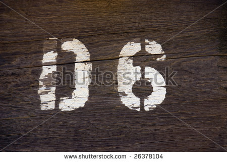 rustic letter and number stencils