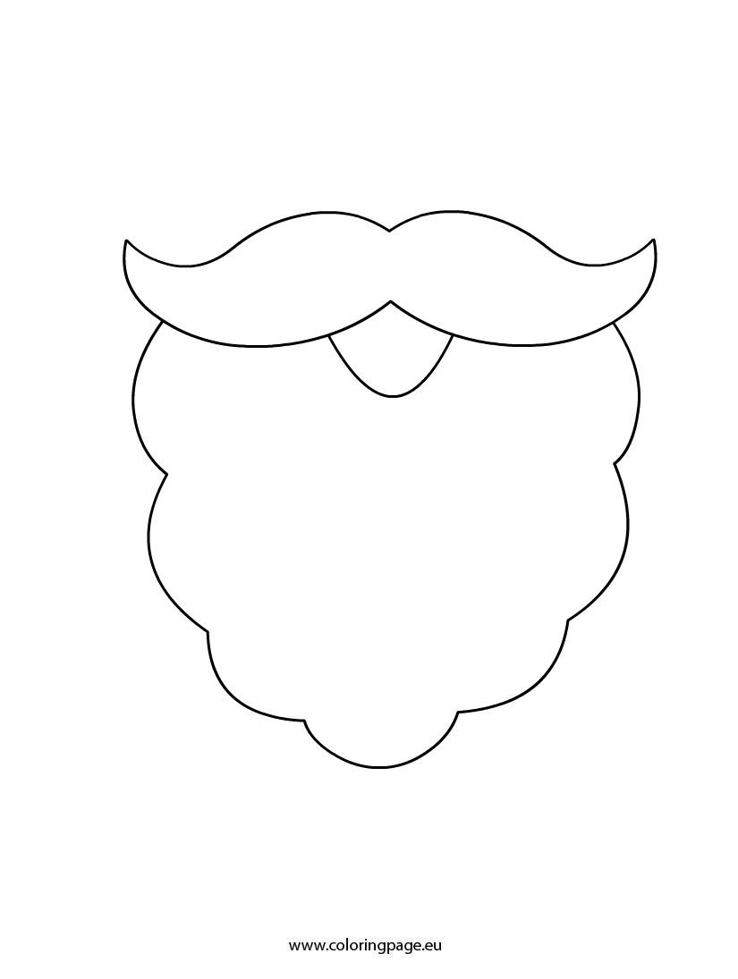7 best images of printable santa claus beard santa claus