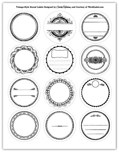 Vintage Round Label-Free Printables