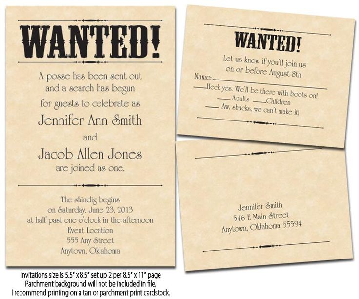 6 Images of Free Printable Wanted Poster Invitations