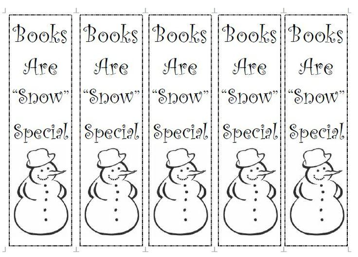 Winter Bookmark Printable Free