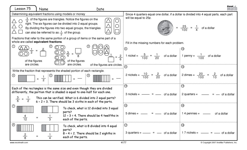 math worksheet : 6 best images of fourth grade math test printable  worksheets for  : Printable Worksheets For 4th Grade Math