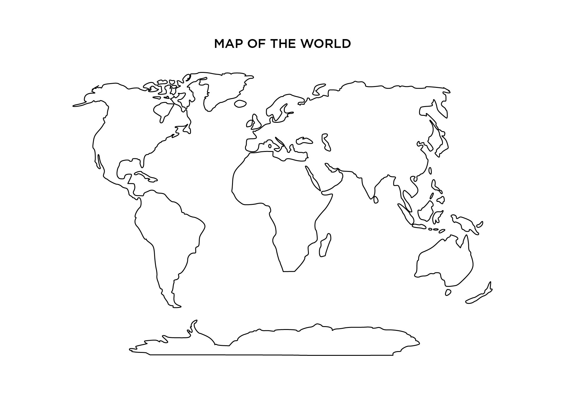5 Images of Blank World Maps Printable