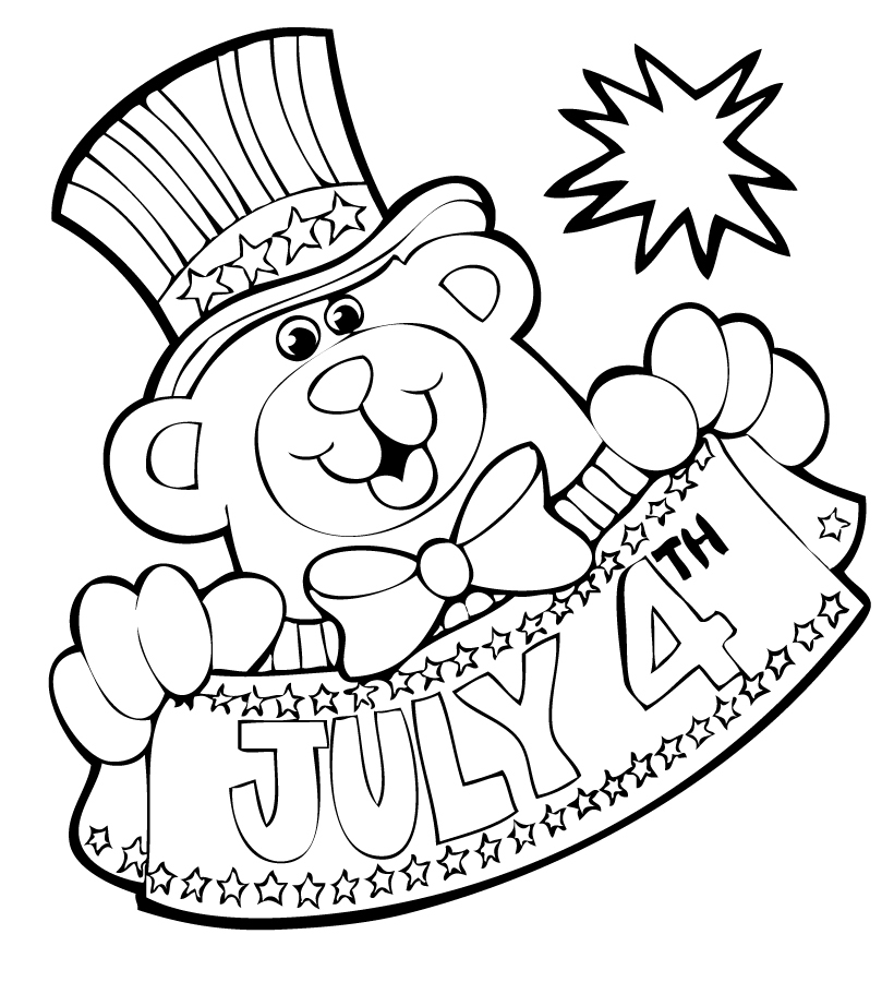 6 Images of 4th Of July Coloring Printables