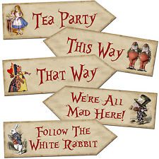 Alice in Wonderland Mad Hatters Tea Party Sign