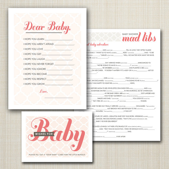 8 best images of printable baby shower mad libs game