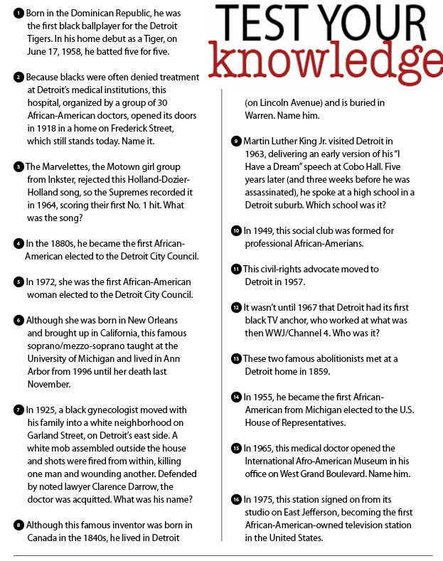 5 Images of Black History Month Trivia Printable
