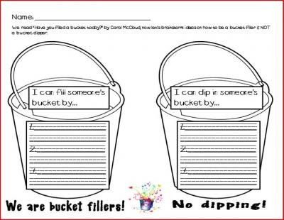 6 Images of Free Printable Bucket Filler Slips