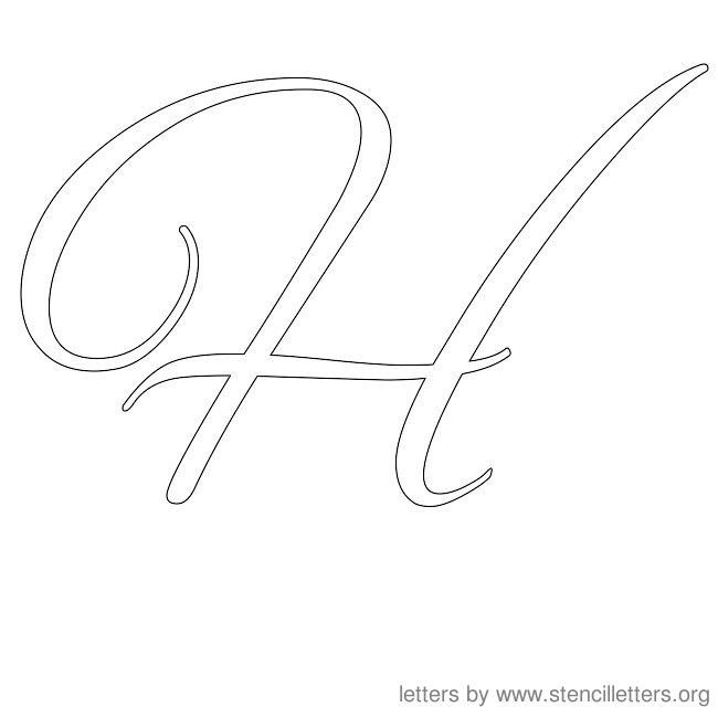 Best Images of Monogram Letter H Printable Stencils - Free ...