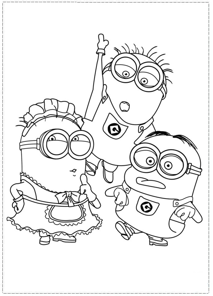 7 Images of Dispicable Me Coloring Pages Printable