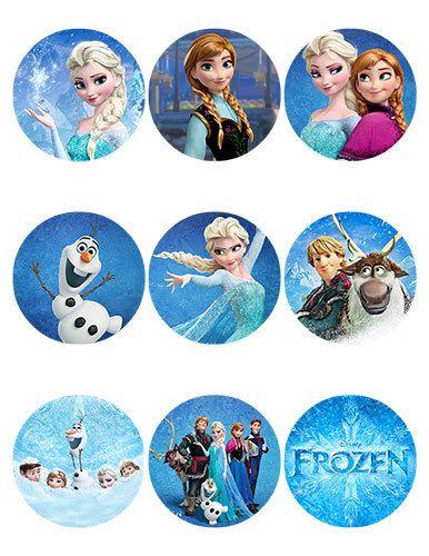 7 Images of Disney's Frozen Printable Stickers