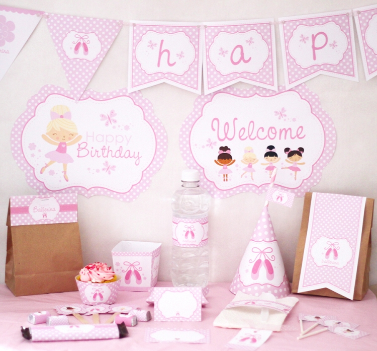 Birthday printable images gallery category page 2 for Ballerina party decoration ideas